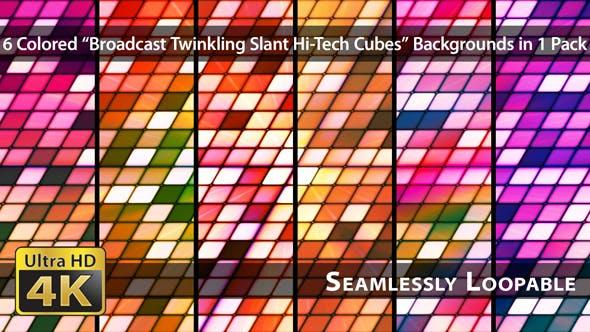 Thumbnail for Broadcast Twinkling Slant Hi-Tech Cubes - Pack 03