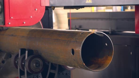 Thumbnail for Big Metal Pipe on Factory. Steel Aviation Detail