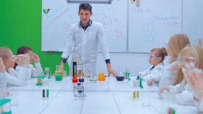 Children in Chemistry Class
