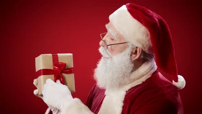Santa Claus with Xmas Present