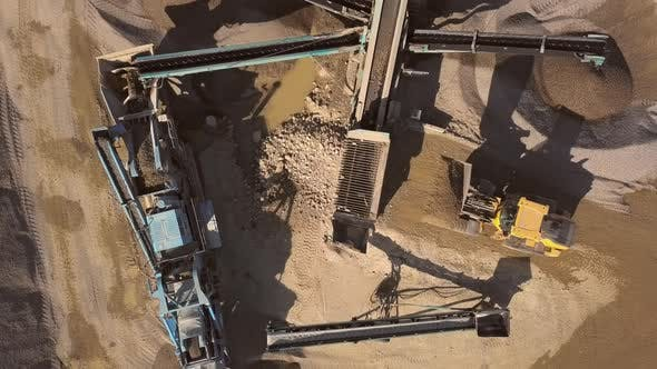 Thumbnail for Bulldozer in Action in Open Air Quarry