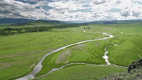 Thumbnail for Vast Meadow and River in Central Asia Geography