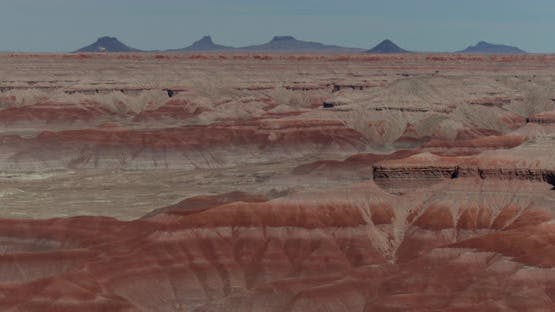 Pulling away from the Little Painted Desert