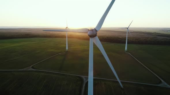 Thumbnail for Renewable Wind Energy Windmill at Sunset