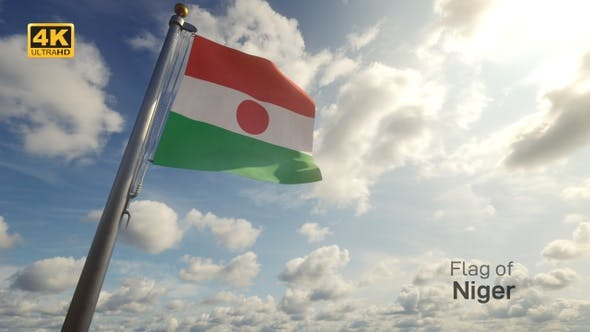 Thumbnail for Niger Flag on a Flagpole - 4K