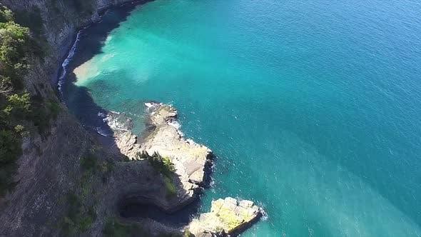 High Rocky Cliff Coast