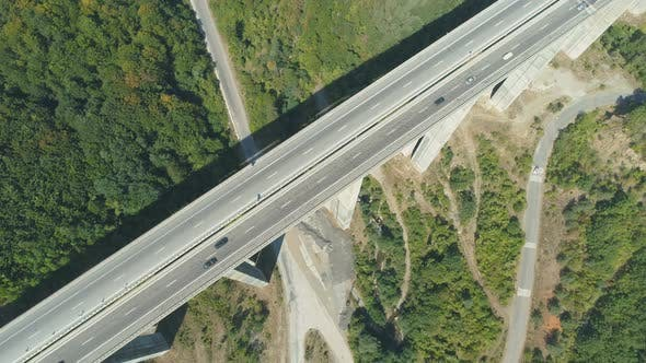 Thumbnail for Viaduct of Motorway with Daily Traffic During the Summer in Bulgaria