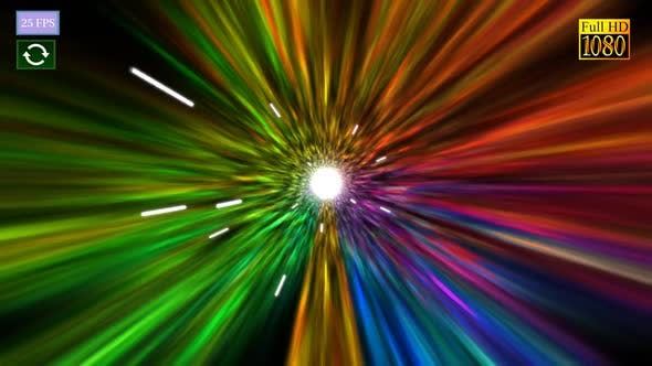 Motion Warp Color Tunnel A HD