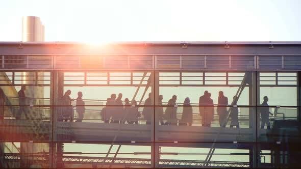 Thumbnail for People Walking on Urban City Street