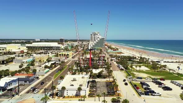 Thumbnail for Drone video of Daytona Beach FL overhead