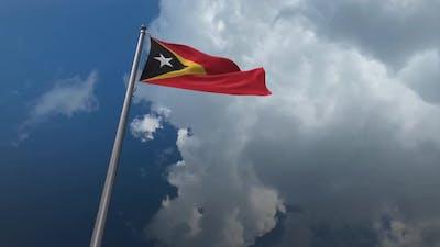East Timor Flag Waving 4K