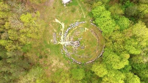 The mound necropolis in Strandja mountain, Bulgaria