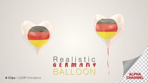 Germany Heart Shape Balloons