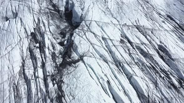 Cover Image for Flying Over Solheimajokull Glacier in Iceland