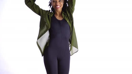 Thumbnail for Sexy black woman dancing in cute clothes