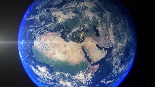 Thumbnail for Realistische Erde Zoom Out Wolken Ägypten Kairo
