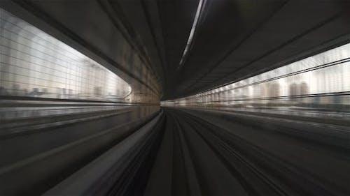 Tokyo, Japan, Timelapse  - Hyperlapse POV timelapse through Tokyo via the automated guideway transit