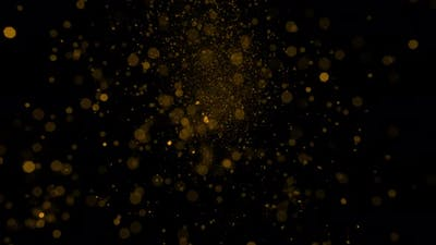 Gold Glitter Particles