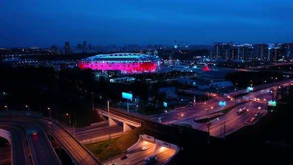 Thumbnail for Freeway Intersection and Football Stadium Spartak Moscow Arena