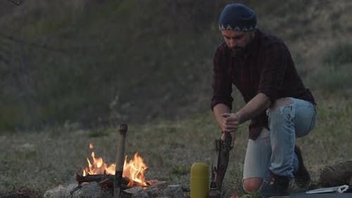 Evening at Hiker Camp