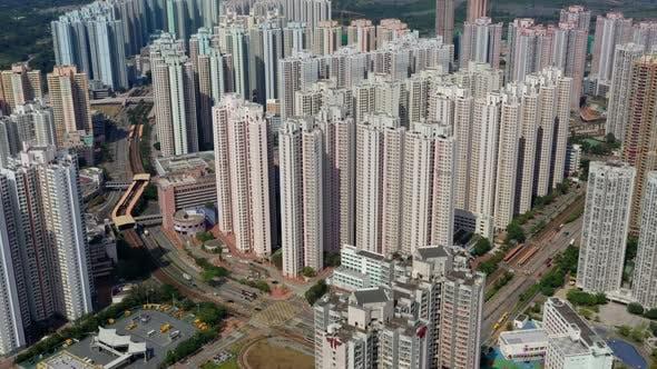 Thumbnail for Top view of Hong Kong city