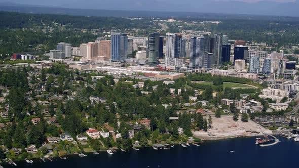 Thumbnail for Meydenbauer Beach Park Bellevue Construction Aerial