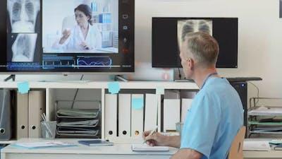 Doctors Having Online Meeting