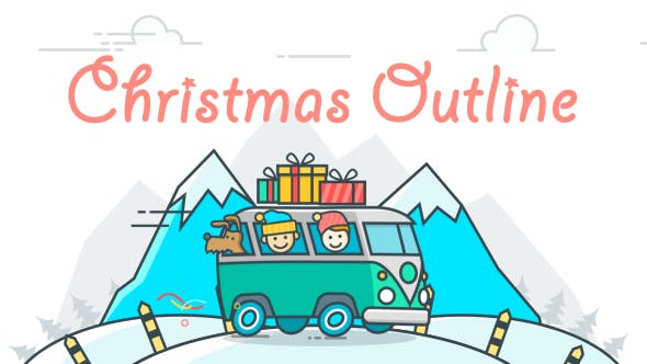 Thumbnail for Christmas Outline