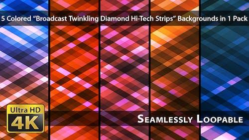 Broadcast Twinkling Diamond Hi-Tech Strips - Pack 03