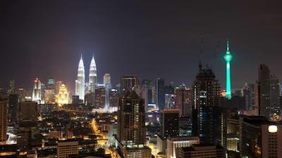 Night Kuala Lumpur, Malaysia