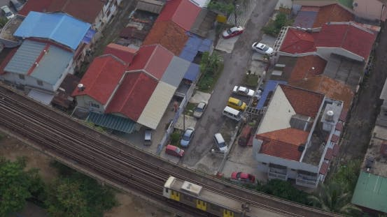 Thumbnail for Buildings And Railway With a Passing Train In City Of Kuala Lumpur, Malaysia