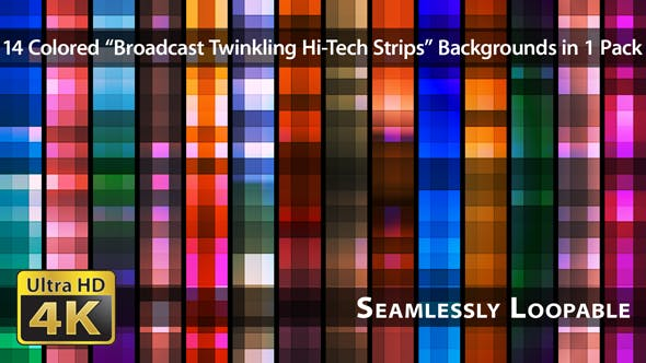 Thumbnail for Broadcast Twinkling Hi-Tech Strips - Pack 03