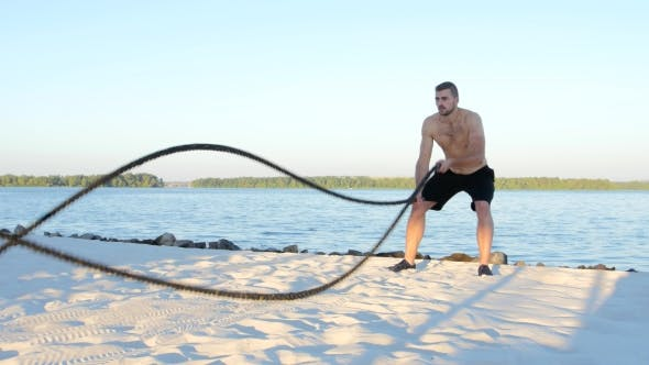 Thumbnail for Man Spends Training With Ropes