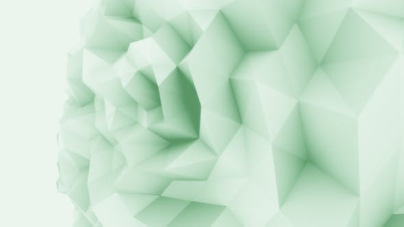 Thumbnail for Green Low Poly Sphere Motion Background