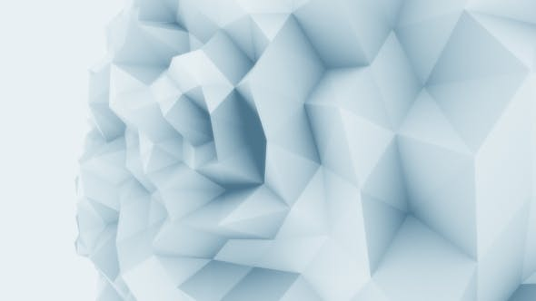 Thumbnail for Blue Low Poly Sphere Motion Background