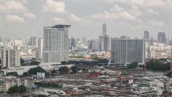 Thumbnail for Shot Of Construction Area, Bangkok, Thailand