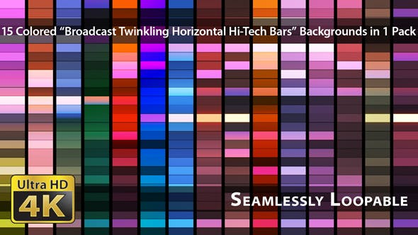 Thumbnail for Broadcast Twinkling Horizontal Hi-Tech Bars - Pack 02