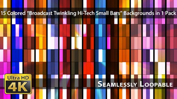 Thumbnail for Broadcast Twinkling Hi-Tech Small Bars - Pack 02