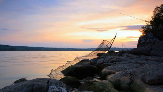 Cover Image for Fishing At Sunset Timelapse