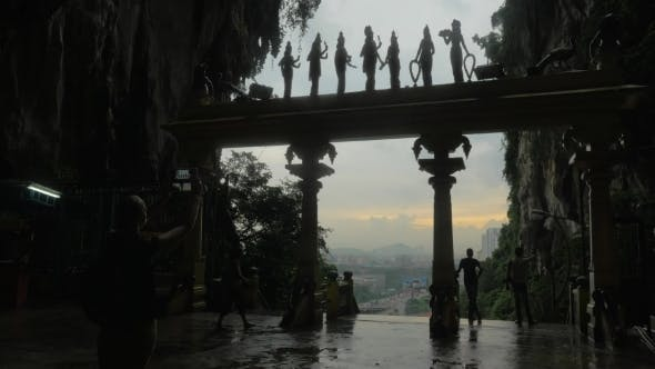 Thumbnail for Tourists Visiting Batu Caves In Malaysia