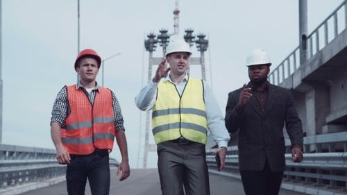 Highway Transportation Inspector With Engineers