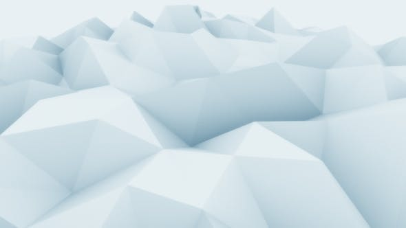 Thumbnail for Low Poly Blue Abstract Polygonal Motion Background