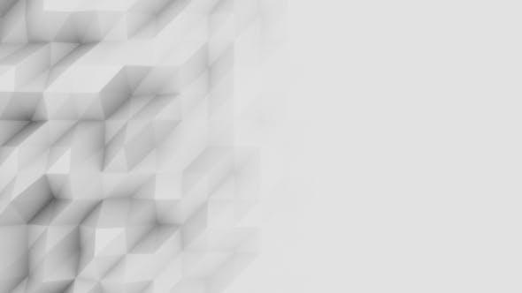 Thumbnail for Light Grey Polygonal Motion Background
