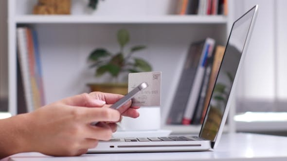 Thumbnail for Woman Making Mobile Payment On Smartphone.