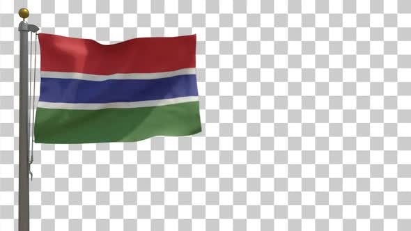 Thumbnail for Gambia Flag on Flagpole with Alpha Channel
