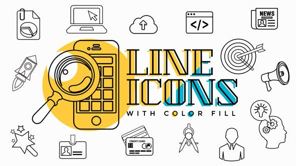 Thumbnail for Business Line Icons