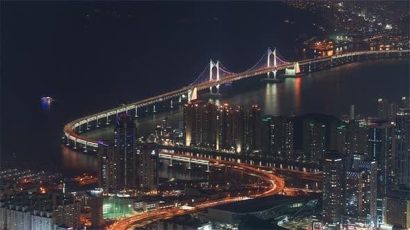 Thumbnail for The Gwangandaegyo or Diamond Bridge in Seoul at Night