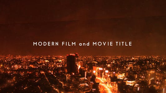 Thumbnail for Modern Movie and Film Title