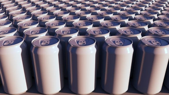 Thumbnail for Generic White Aluminum Cans At Sunset