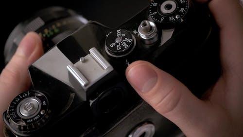 Detail einer alten Vintage Kamera für Fotografie